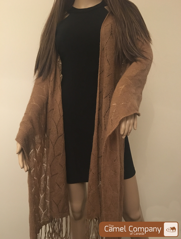 Camel Wool Shawl