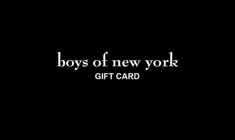 boys of new york Gift Card