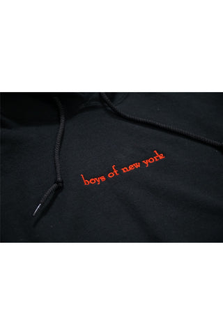 boys of new york Logo Hoodie - Red Embroider