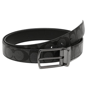 Modern Harness Cut-To-Size Reversible Signature Coated Canvas Belt (Coach F64825)