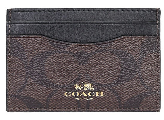 Card Case In Signature Canvas (Coach F63279) Womens Wallets Coach