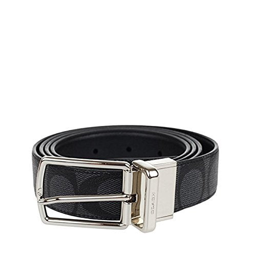 68b04096 Signature Mod Plaque Harness Cut-To-Size Reversible Belt (Coach F65242)