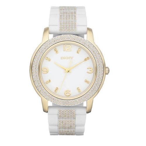DKNY Crystal Gold Tone Acrylic Ladies Watch NY8528