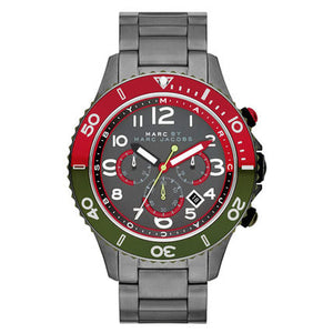Marc by Marc Jacobs Men's Rock Chronograph Watch, Gunmetal/Gunmetal Mens Watches Marc by Marc Jacobs