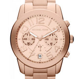 Michael Kors Rose Gold-Tone Mercer Watch Womens Watches Michael Kors