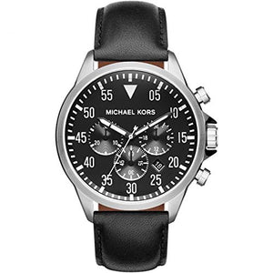 Michael Kors Mk8442 Gage Chronograph Black Dial Black Leather Men'S Watch Mens Watches Michael Kors