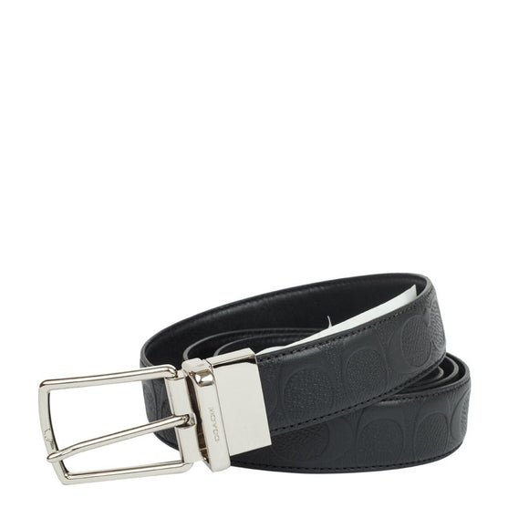 Modern Harness Cut-To-Size Reversible Signature Leather Belt (Coach F55158) Black Belts Coach