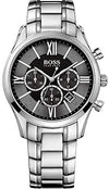 Hugo Boss Ambassador Chronograph Stainless Steel Mens Watch Black Dial Date 1513196