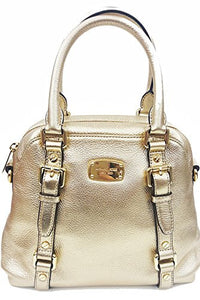 Michael Kors Bedford Md Bowling Satchel Leather Pale Gold (35F5Mbfs2M) Womens Handbags Michael Kors