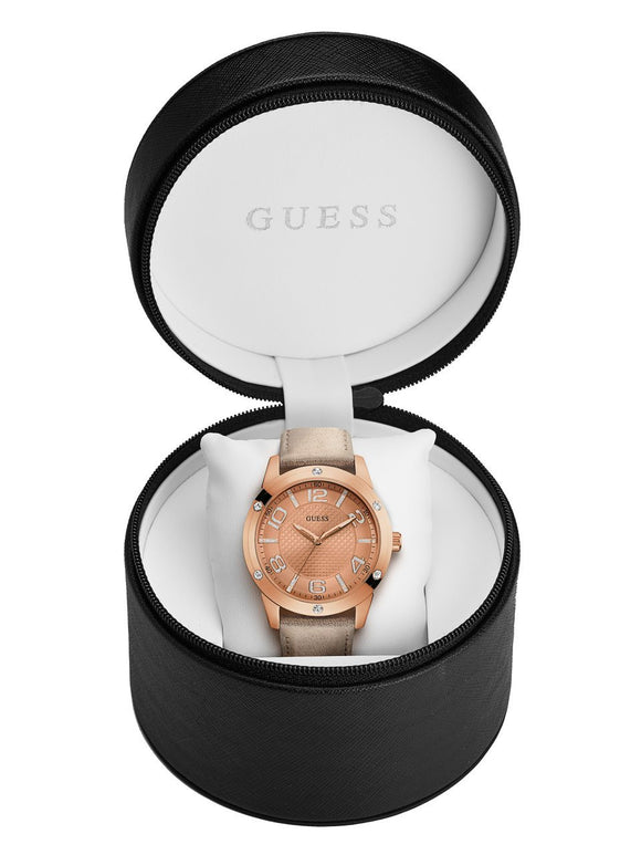 Guess Rose Gold-Tone Sport And Shine Watch Womens Watches Guess