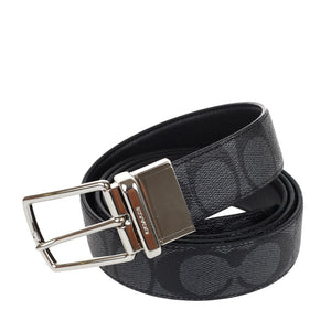 Signature Mod Plaque Harness Cut-To-Size Reversible Belt (Coach F65242) Belts Coach