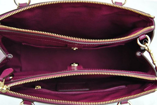 f7051cdd6a071 Small Christie Carryall In Crossgrain Leather (Coach F36637) Burgundy