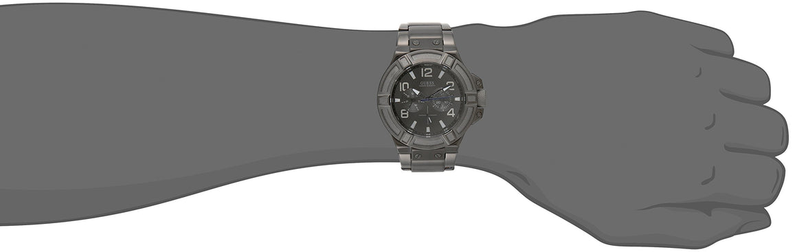 "Guess Men'S U0218G1 ""Gunmetal Rigor"" Multi-Function Standout Sport Watch Mens Watches GUESS"