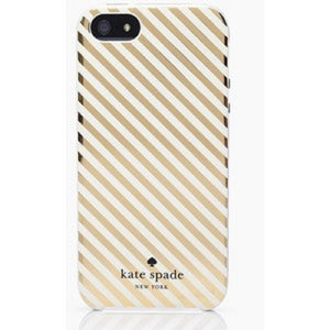 Kate Spade WIRU0348 New York 'Clear Gold Market Street Stripe' Snap On Case For Iphone 6 Plus & 6S Plus Electronics Kate Spade