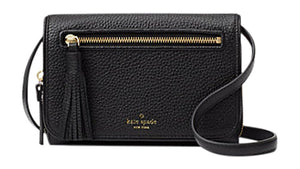 Kate Spade WKRU4491 New York Chester Street Avie Crossbody Handbag Black Womens Wallets Kate Spade