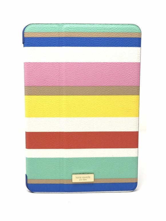 Kate Spade WIRU0492 New York 'Dune Stripe' Folio Hardcase For Ipad Mini 4 electronics Kate Spade