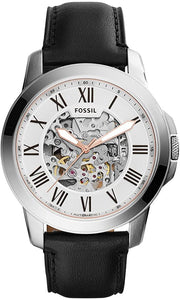 Fossil ME3101 Grant Automatic Silver Skeleton Dial Men's Watch