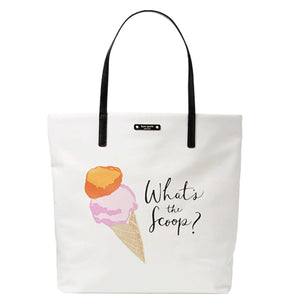 Kate Spade WKRU4241 Ice Cream What'S The Scoop Tote Bag Flavor Of The Month Multi Womens Handbags Kate Spade