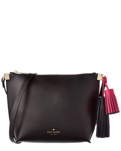 Kate Spade WKRU3831 New York Foster Court Pepper Leather Satchel Crossbody Womens Handbags Kate Spade