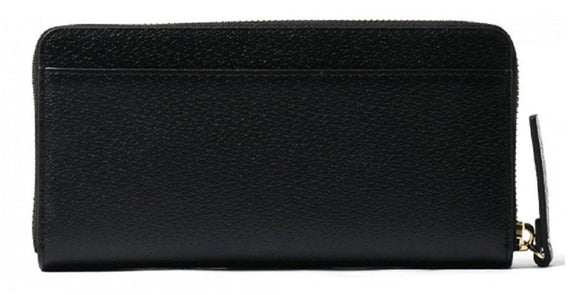 Kate Spade WLRU2821 Grove Street Neda Leather Zip Wallet Black Womens Wallets Kate Spade