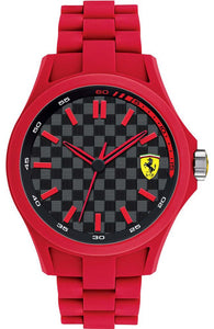 Ferrari Men'S 0830157 Pit Crew Analog Display Quartz Red Watch Mens Watches Ferrari