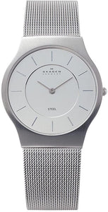Skagen Classic Steel Mesh Men's watch 233LSSB Silver Face Mens Watches Skagen