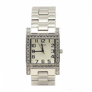 Guess Women'S U0128L1 Silver-Tone Crystal Watch Womens Watches Guess