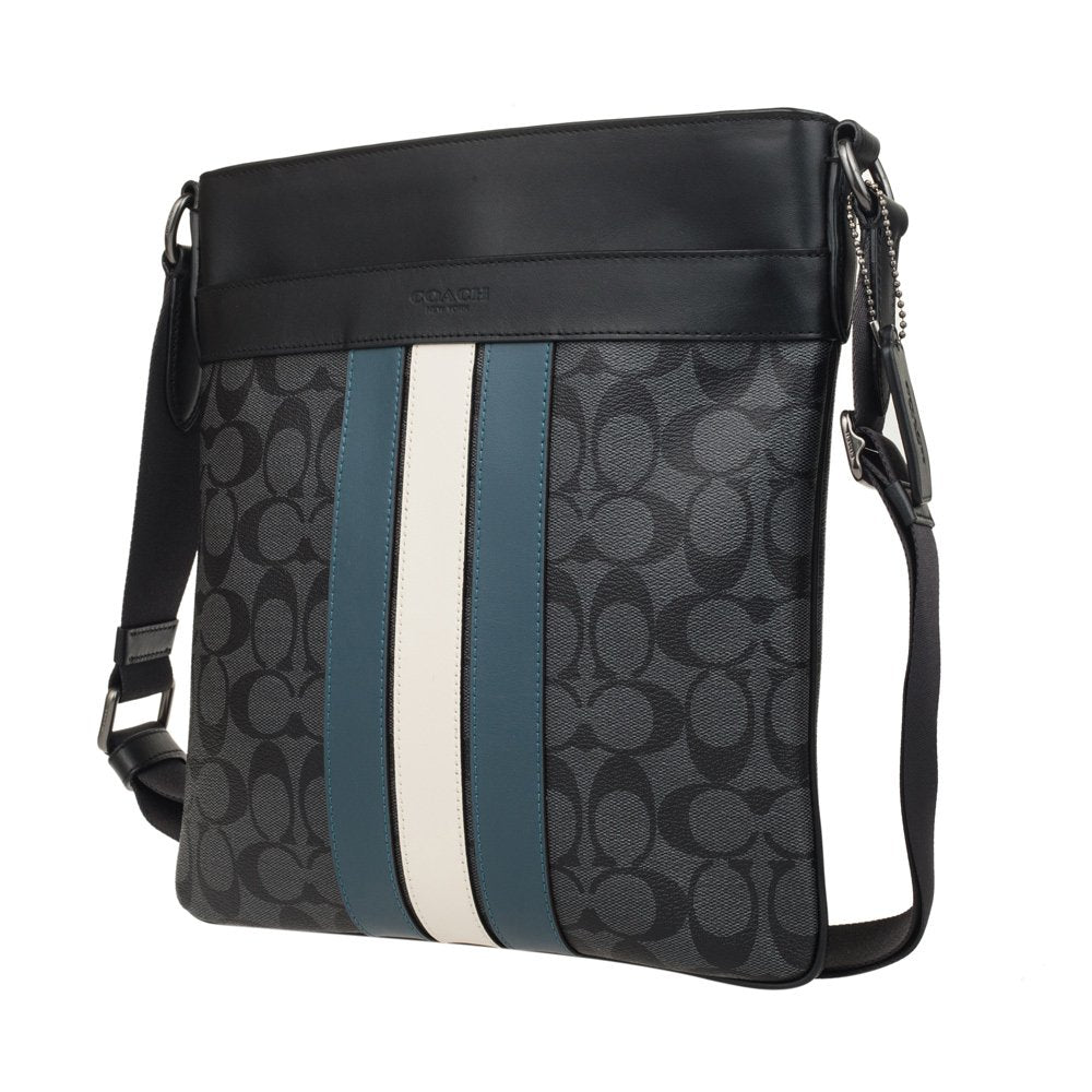 Charles Crossbody In Signature Canvas With Varsity Stripe (Coach F26068)