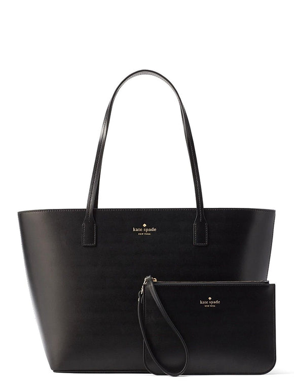 Kate Spade WKRU4766 Bennet Place Small Harmony Smooth Leather Tote Shoulder Bag Purse Handbag With Matching Wristlet Pouch Womens Handbags Kate Spade