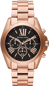 Michael Kors Bradshaw Rose Tone Black Dial Chronograph MK5854 Watch
