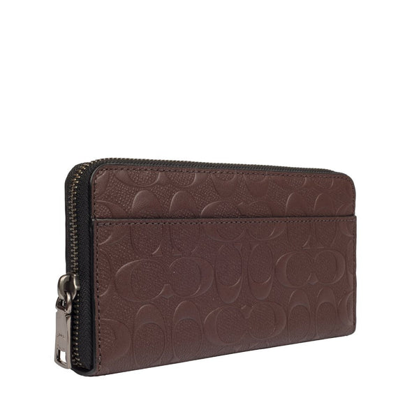 dfb322fda16f Accordion Wallet In Signature Crossgrain Leather (Coach F75372) Mahoga -  Watchcove