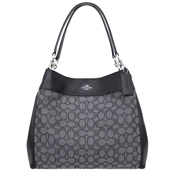 Lexy Shoulder Bag In Outline Signature (Coach F57612) Womens Handbags Coach