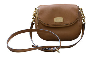 Michael Kors Leather Bedford Flap Crossbody Handbag, Acorn Womens Handbags Michael Kors