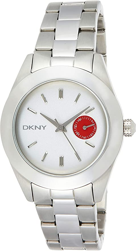 DKNY White and Red Dial Stainless Steel Ladies Watch NY2131