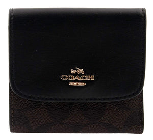 Small Wallet In Signature Canvas (Coach F87589) Womens Wallets Coach
