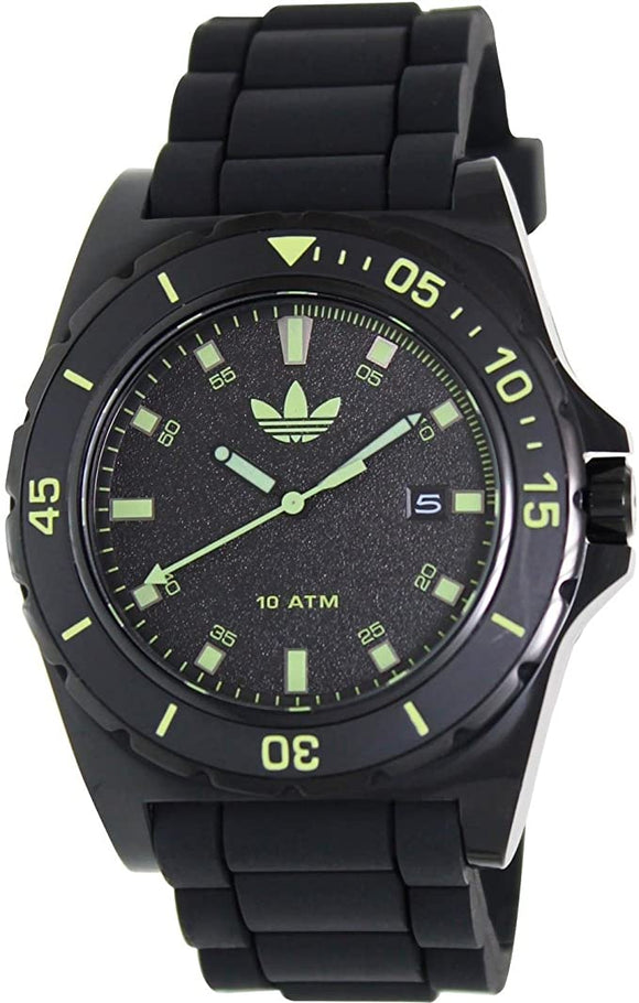 Adidas Men's Stockholm ADH2856 Black Silicone Quartz Watch with Black Dial
