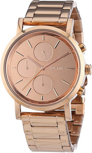 DKNY Lexington ChronographRose Dial Rose Gold-plated Ladies Watch NY8862