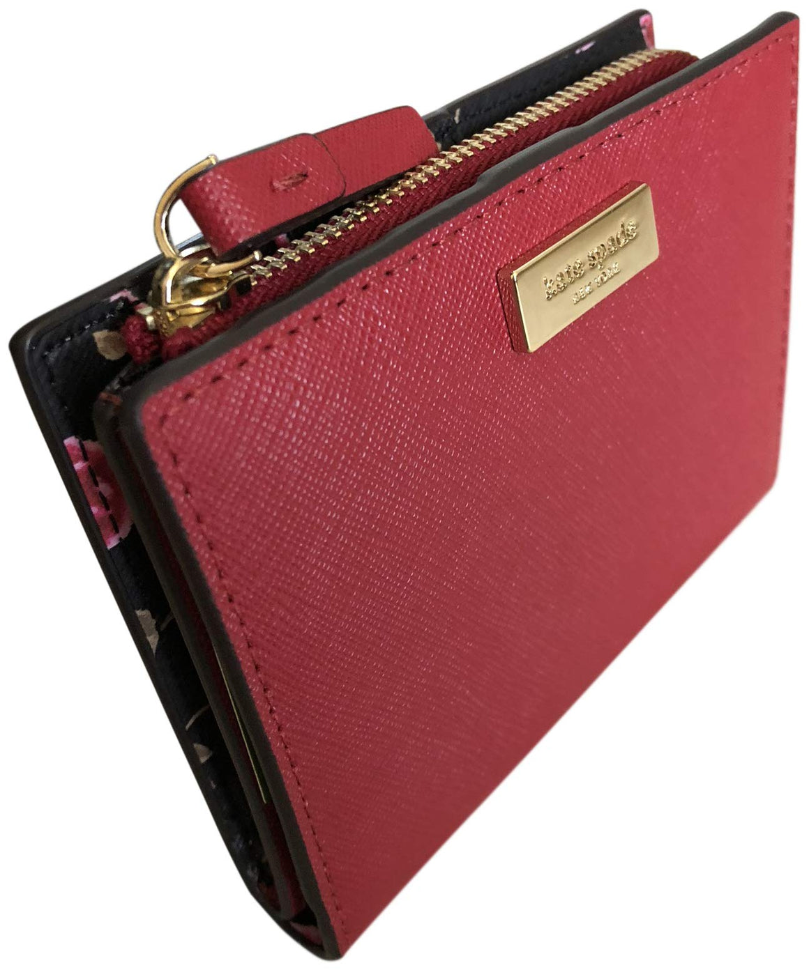 Kate Spade WLRU5049 Shawn Laurel Way Hazy Rose Saffiano Leather Wallet Red Womens Wallets Kate Spade