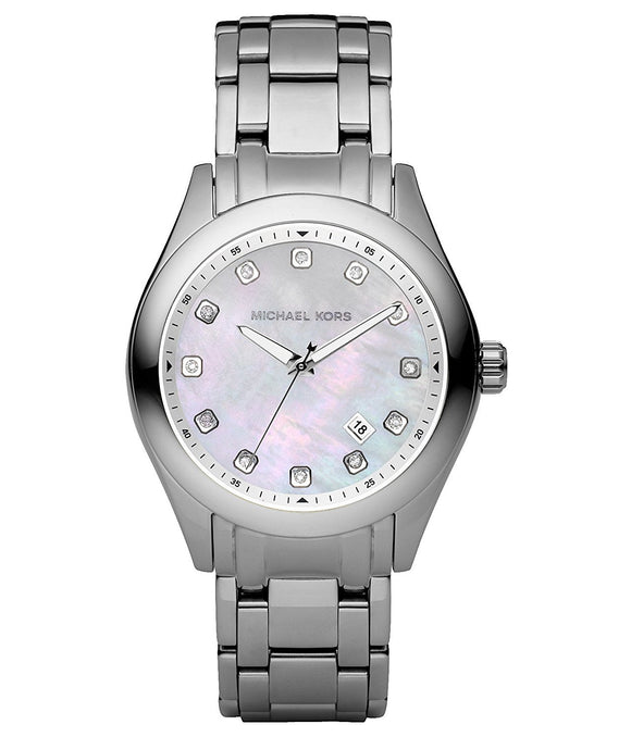 Michael Kors Quartz, Silver Stainless Band White Dial - Women'S Watch Mk5325 Womens Watches Michael Kors
