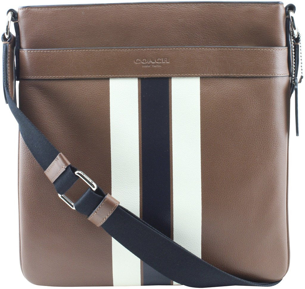 195ba121aa65 Charles Crossbody In Varsity Leather (Coach F54193) Dark Saddle ...
