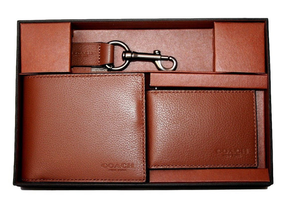 Compact Id Wallet In Sport Calf Leather (Coach F64118) Mens Wallets Coach