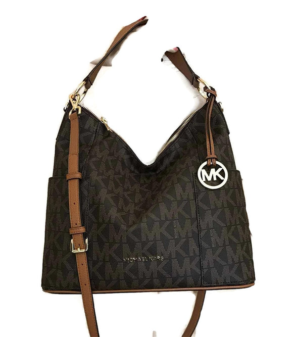 Michael Kors Anita Large Convertible Shoulder Bag (Brown) Womens Handbags Michael Kors