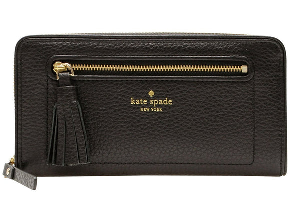 Kate Spade WLRU2654 New York Chester Street Neda Pebbled Leather Zip Around Wallet Womens Wallets Kate Spade