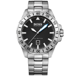 Men'S Hugo Boss Deep Ocean Stainless Steel Watch 1513234 Mens Watches Hugo Boss