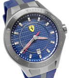 Ferrari 0830081 Scuderia Blue Grey Red Date Race Rubber Men Watch New Mens Watches Ferrari