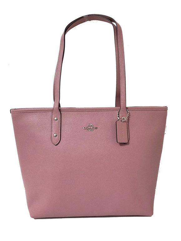 City Zip Tote In Crossgrain Leather (Coach F58846) Womens Handbags Coach