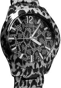 Guess Animal Print Steel Womans Watch U0001L1