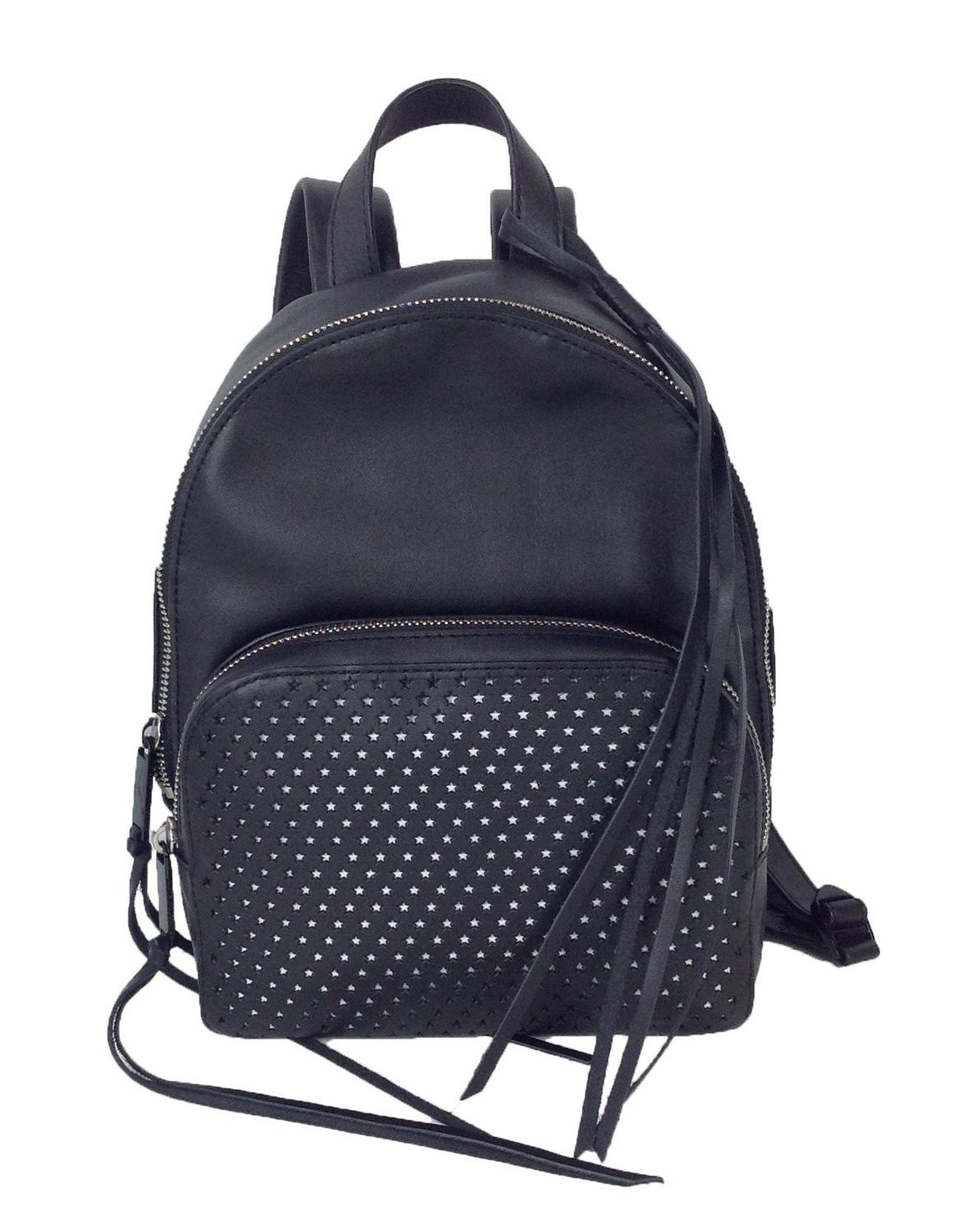 Rebecca Minkoff Star Perforated Leather Backpack, Black Womens Backpacks Rebecca Minkoff
