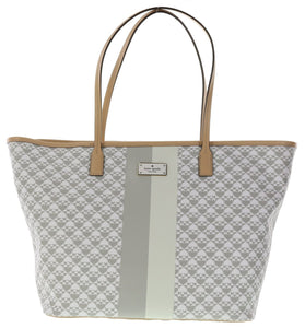 Kate Spade WKRU3628 New York Penn Place Margareta Tote Handbag Shoulder Bag (Grey) Womens Handbags Kate Spade