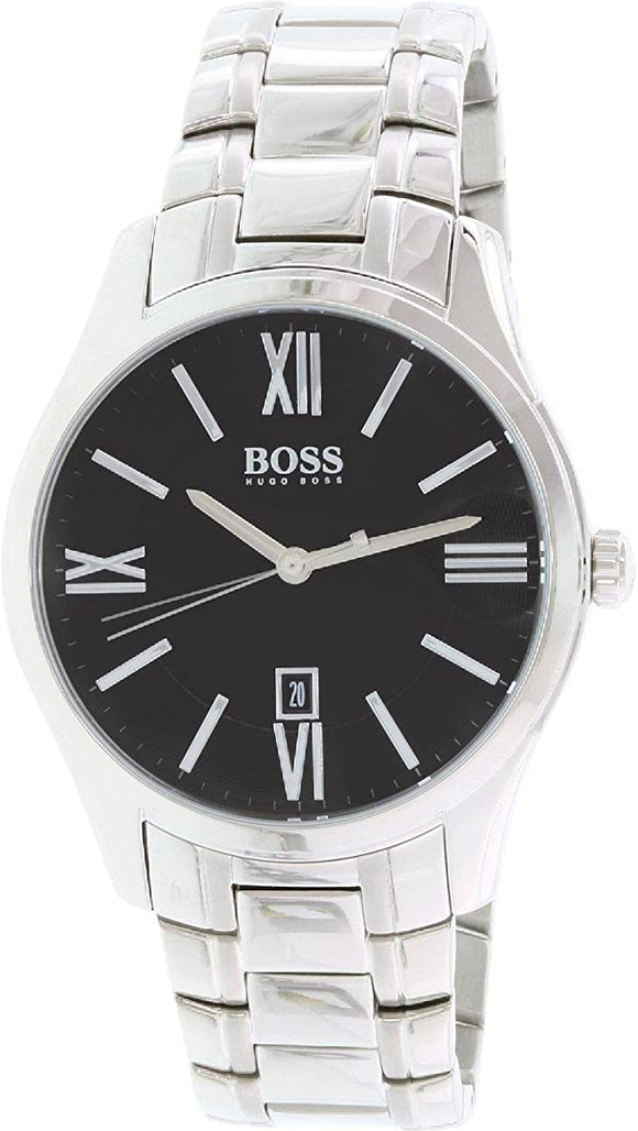 Hugo Boss Men's Ambassador 1513025 Silver Stainless-Steel Quartz Watch